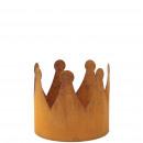 Metall Krone Leo, D20cm H18cm, rost